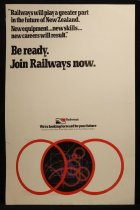Image of Be ready. Join Railways now [New Zealand Railways recruitment poster] -
