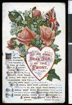 "Image of ""To my own dear son at the front"", from T J Ross, Timaru, to Alister (Alex) Ross, serving in France -"