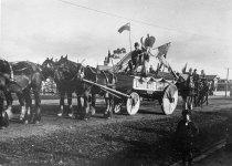 Image of King George V coronation parade float, Timaru -