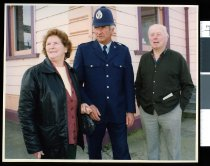Image of Daphne Watson, Joe Laney, and Reuben Thomson - Timaru Herald Photographs, Personalities Collection