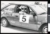 Image of David Lange in his rally car