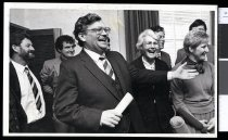 Image of David Lange and New Zealand Labour Party politicians - Timaru Herald Photographs, Personalities Collection