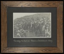Image of Turning the first sod, Timaru-Christchurch Rlwy - Burnett Collection