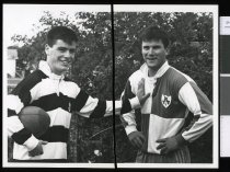 Image of Kevin O'Brien and Tim Allnutt - Timaru Herald Photographs, Personalities Collection
