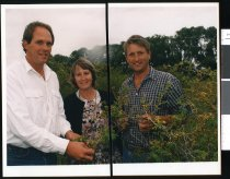 Image of Simon Cameron, Peter Raal, and Gill Raal  - Timaru Herald Photographs, Personalities Collection