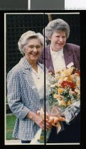 Image of Shirley Johnson and Rata Smith, Laura Fergusson Trust - Timaru Herald Photographs, Personalities Collection