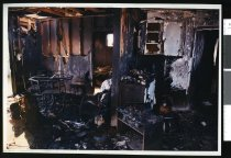 Image of Ian Lintott's fire-gutted home - Timaru Herald Photographs, Personalities Collection
