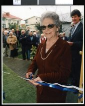 Image of Opening of the Thomas House addition, TBHS - Timaru Herald Photographs, Personalities Collection