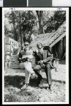 Image of Midge Marsden (left) and Willie Foster - Timaru Herald Photographs, Personalities Collection