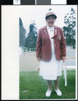 Image of Rose Maxwell, bowls umpire - Timaru Herald Photographs, Personalities Collection