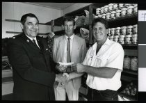 Image of Cheque presentation to Salvation Army - Timaru Herald Photographs, Personalities Collection