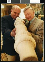 Image of Mike Moore and John Abraham - Timaru Herald Photographs, Personalities Collection