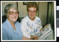 Image of Trish Moran and Irene Warrener - Timaru Herald Photographs, Personalities Collection