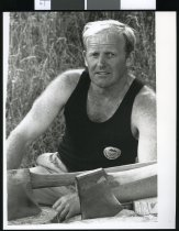 Image of Charlie Morgan, competitive woodchopping - Timaru Herald Photographs, Personalities Collection