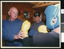 Image of Boxing coaching session  - Timaru Herald Photographs, Personalities Collection