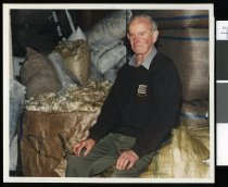 Image of Terry Mulcahy, wool and skin buyer - Timaru Herald Photographs, Personalities Collection