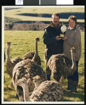 Image of Ostrich farmers - Timaru Herald Photographs, Personalities Collection