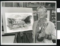 Image of Kathleen McBeath, artist - Timaru Herald Photographs, Personalities Collection