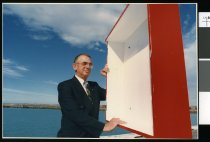 Image of Rod McDougall, coast guard president - Timaru Herald Photographs, Personalities Collection