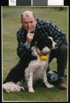 Image of Jim McKenzie and border collie - Timaru Herald Photographs, Personalities Collection