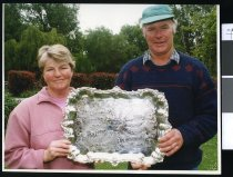 Image of Jean and John McRae, dairy farmers - Timaru Herald Photographs, Personalities Collection
