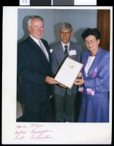 Image of Presentation to Pelecare Products Limited - Timaru Herald Photographs, Personalities Collection