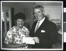 Image of Maurice McTigue and Mrs Taipana - Timaru Herald Photographs, Personalities Collection