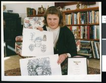 Image of Melissa Newall and certificate - Timaru Herald Photographs, Personalities Collection