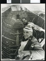 Image of Robert Odey (at rear) and David MacLean - Timaru Herald Photographs, Personalities Collection