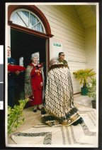 Image of Tipene O'Regan being knighted - Timaru Herald Photographs, Personalities Collection