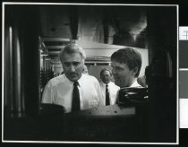 Image of Prime Minister Geoffrey Palmer and Jim Sutton - Timaru Herald Photographs, Personalities Collection