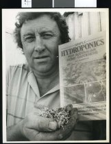 Image of Denzil Paterson, hydroponics - Timaru Herald Photographs, Personalities Collection