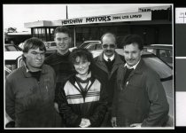 Image of Grant Littleton, Keith White, Sharon Love, Roger Patterson & Gerry Riddell - Timaru Herald Photographs, Personalities Collection