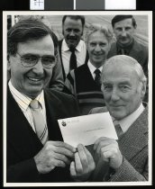 Image of Brian J Petrie and Ian Alexander  - Timaru Herald Photographs, Personalities Collection