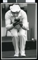 Image of Jim Phillips, bowler - Timaru Herald Photographs, Personalities Collection