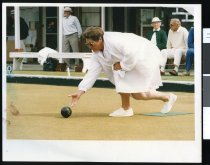 Image of Bett Prattley, lawn bowler - Timaru Herald Photographs, Personalities Collection