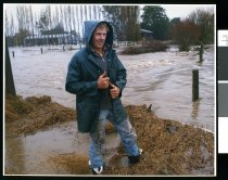 Image of Flooding on Moore Road, Temuka - Timaru Herald Photographs, Personalities Collection