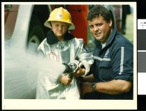 Image of Firefighting  - Timaru Herald Photographs, Personalities Collection