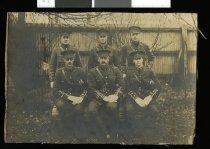 Image of Major David Grant and his subalterns, 1914 -