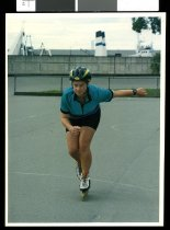 Image of Angela Satherly-Shea, roller skater - Timaru Herald Photographs, Personalities Collection
