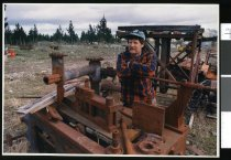 Image of Russell Shaw, Fairlie Sawmill - Timaru Herald Photographs, Personalities Collection