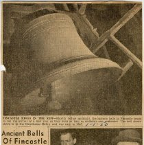 "Image of Newspaper article titled ""Ancient Bells of Fincastle Hail New Year"" - 2009.1.110"