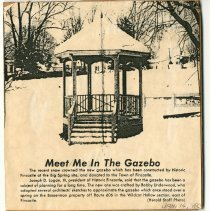 "Image of Newspaper photograph titled ""Meet Me in the Gazebo"" - 2009.1.128"