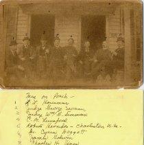 Image of Group Photo of Men on Main Street, Fincastle Virginia - 2009.1.133