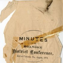 Image of Minutes of the Roanoke District Conference - 2009.1.14