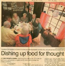 "Image of Newspaper article titled ""Dishing Up Food for Thought"" - 2009.1.174"
