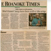 """Image of Newspaper article titled """"Mad Gasser May Have Been Will-O-the-Wisp"""" - 2009.1.192"""