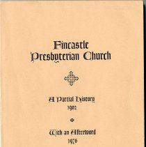 "Image of ""Fincastle Presbyterian Church: A Partial History 1902,  With an Afterword 1976"" - 2009.1.24"