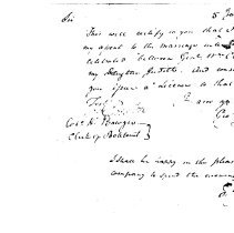 Image of Request for a License of Marriage of Judith Hancock and William Clark - 2009.1.271