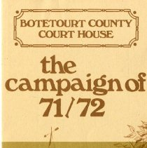 "Image of ""Botetourt County Court House; the Campaign of 71-72"" - 2009.1.277"